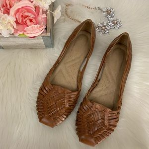 Naturalizer Brown Leather Sandals 9.5M